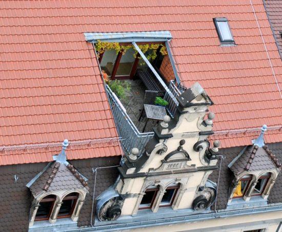 Balkon am Martin-Luther-Platz