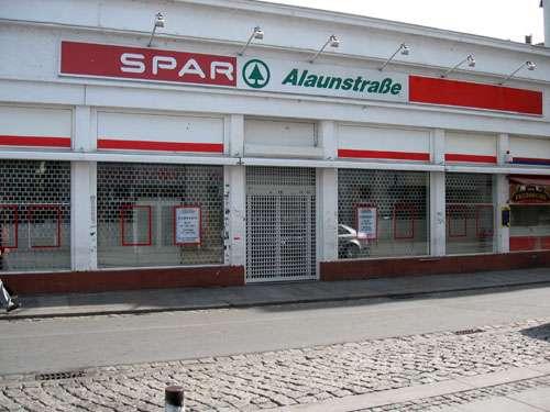 Der Spar-Markt auf der Alaunstraße