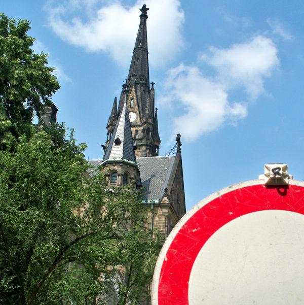 Martin-Luther-Platz gesperrt