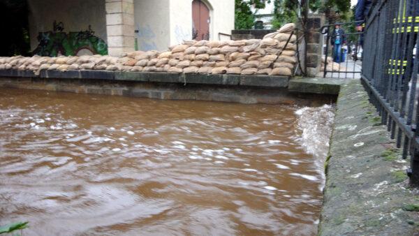 Prießnitz-Hochwasser