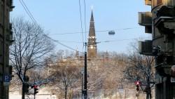 Die Garnisonkirche von der Görlitzer Straße aus gesehen.