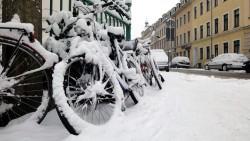 Fahrräder an der Prießnitzstraße
