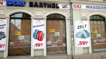 Ausverkauf bei Sport-Barthel
