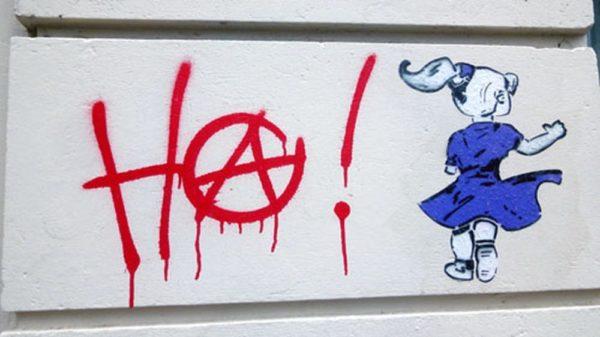 Anarchie auf der Böhmischen Straße.