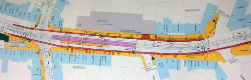 Planskizze Ausbau Bautzner Straße, anklicken zum Vergrößern