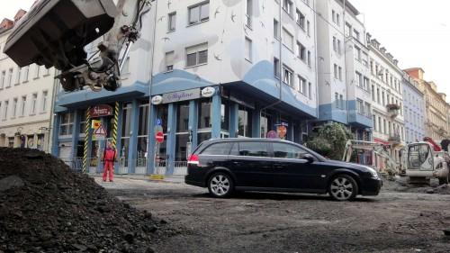 Kiesgrube auf der Louisenstraße