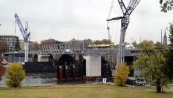 Neue Brücke soll ab 11. November frei geben werden.