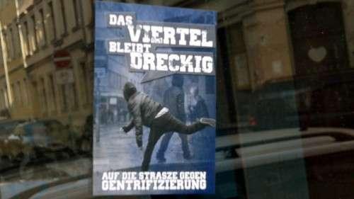 Aufkleber an der Louisen-/Ecke Martin-Luther-Straße
