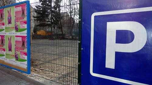Neuer Parkplatz an der Alaunstraße