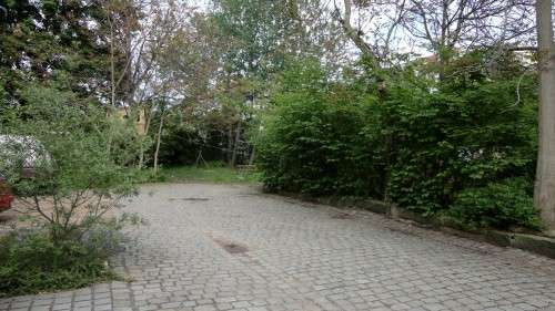 """Hinterm """"Blauen Tor"""": Einer der letzten großen Grünhöfe in der Neustadt."""