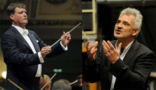 Dirigent Christian Thielemann und Opernintendant und Kammersänger Axel Köhler