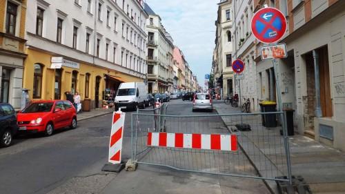 Halteverbot auf der Louisenstraße
