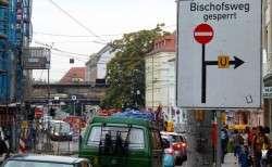 Geänderte Verkehrsführung am Bischofsweg.