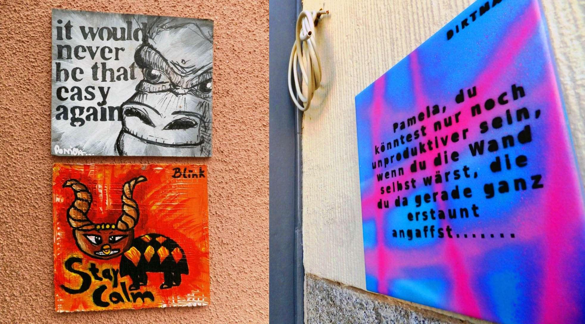 quadratische Street-Art