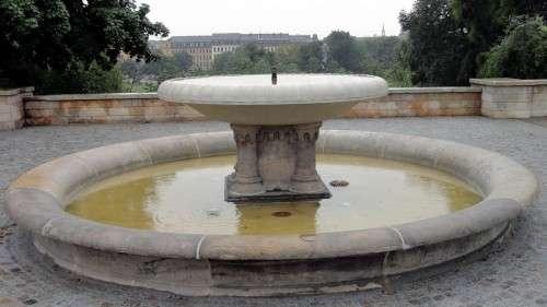 Brunnen mit Alaunplatzblick