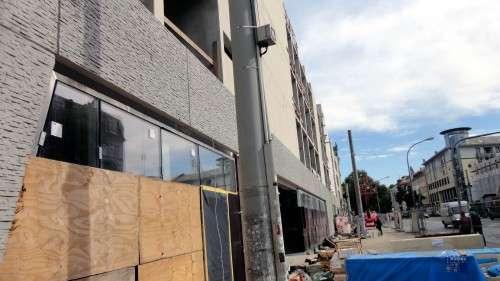 Teile der Fassaden-Gestaltung sind schon fertig.