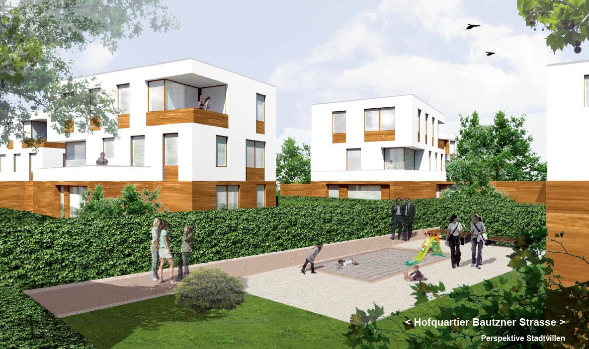 Stadtvillen mit Mietwohnungen. Foto: TSSB architekten.ingenieure