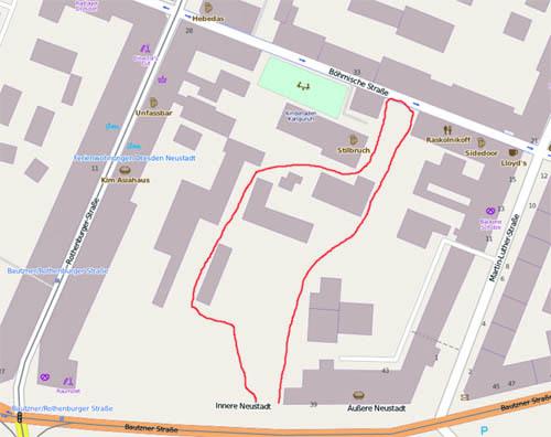 Um diese Fläche geht es. Karte von OpenStreetMap - Veröffentlicht unter CC-BY-SA 2.0