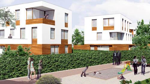 Stadtvillen mit Mietwohnungen. Visualisierung: Arge Schubert Horst Architekten – TSSB architekten.ingenieure