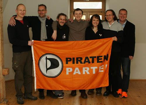 Der neue Piraten-Vorstand.