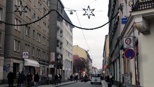 Alaunstraße unterm Sternenhimmel