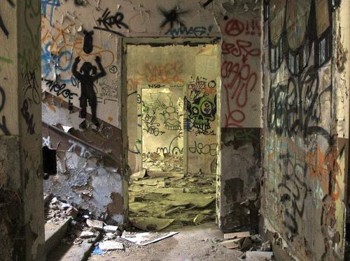 fotografierte Grafitti im Kulturrathaus