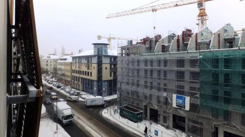 Blick auf die Bautzner Straße - anklicken, um das Bild zu vergrößern.