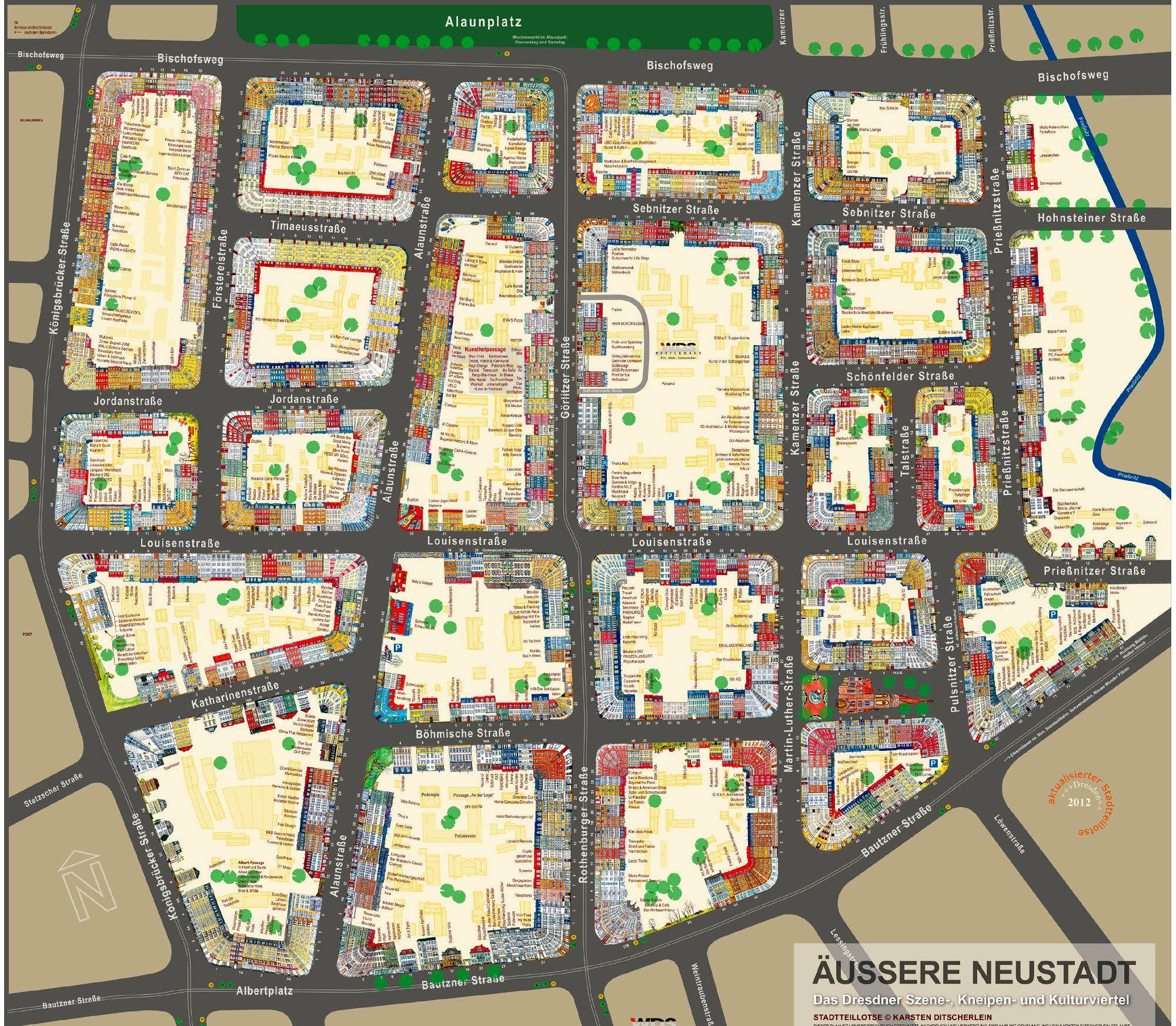karte dresden neustadt Jetzt gibt es den Stadtteillotsen als Poster   Neustadt Geflüster