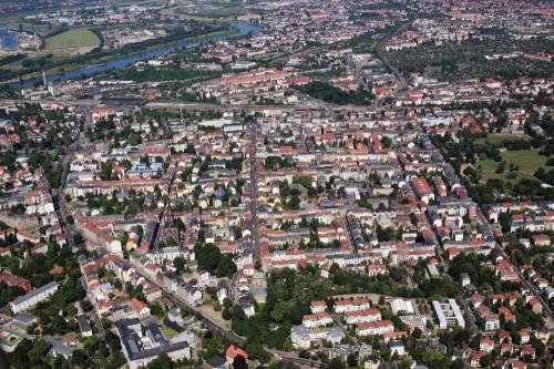 Dresden Neustadt von Oben. Foto: Stiftung Äußere Neustadt Dresden