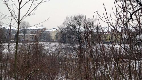 Russensportplatz im Schnee