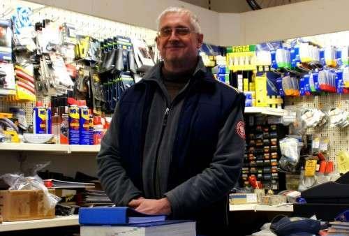 Inhaber Andreas Frank in seinem Laden.
