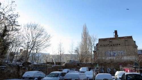 """der Parkplatz an der """"Böhmischen"""""""