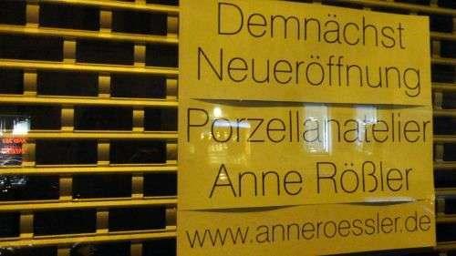 Porzellanatelier - demnächst in der Rothenburger 33