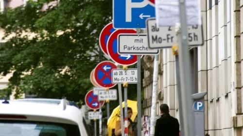 Parken oder Halten, das ist hier die Frage.