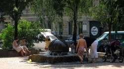 Brunnen am Martin-Luther-Platz
