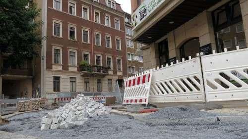Martin-Luther-Straße: gesperrt.
