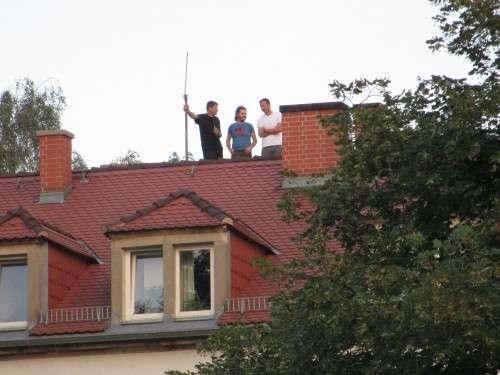 Dach-Steher - neuer Trendsport