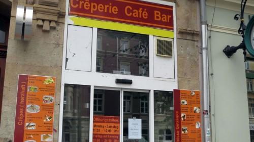 Wieder geschlossen: Crazy Crêpes Café in der Königsbrücker Straße 48