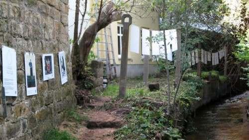 """Im  vergangenen Jahr gab es an der Prießnitz eine """"Galerie am Fluss"""""""