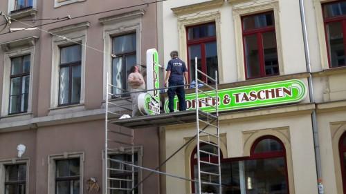 Reinigungsarbeiten auf der Rothenburger Straße