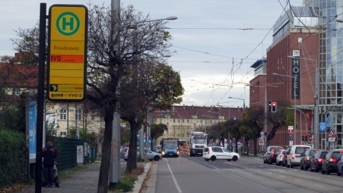 Zwischen Bischofsweg und Liststraße fährt der Ersatzverkehr