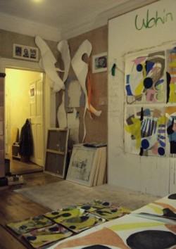 Auch das Atelier Frank K. Richter freut sich auf Besucher. Es befindet sich in der Alaunstraße 29, in der 1.Etage.