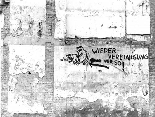eines der ersten Wende-Graffiti