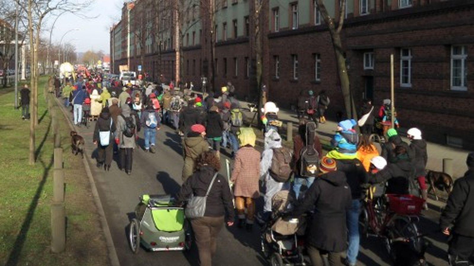 die Hansastraße war voll