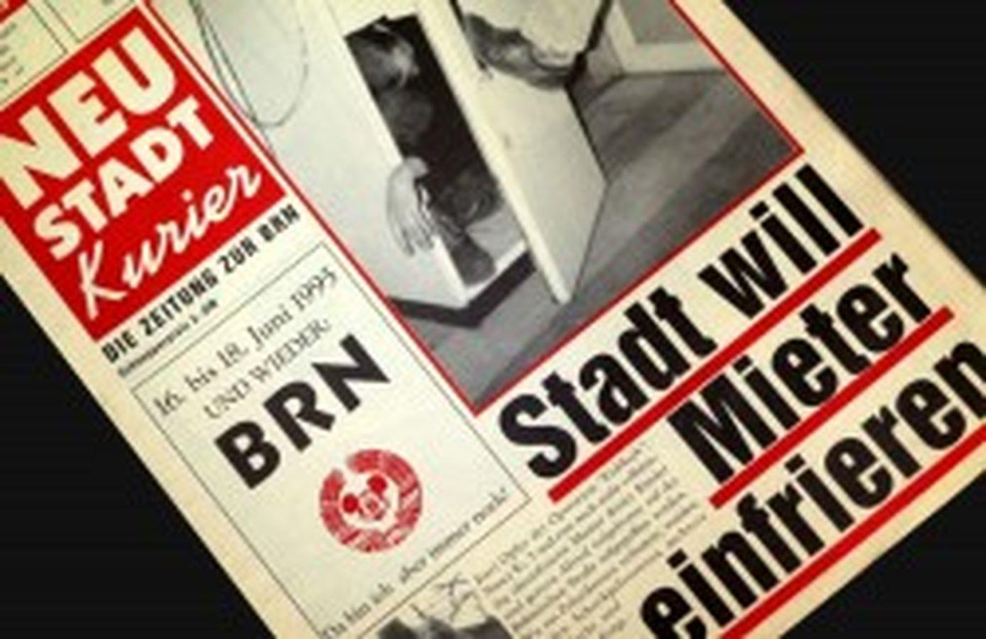 BRN-Zeitung von 1995 ... damals noch mit Arafat-Interview