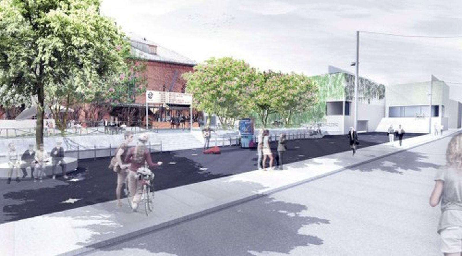 Visualisierung Vorplatz vom Mai 2012, r+b  landschafts architektur