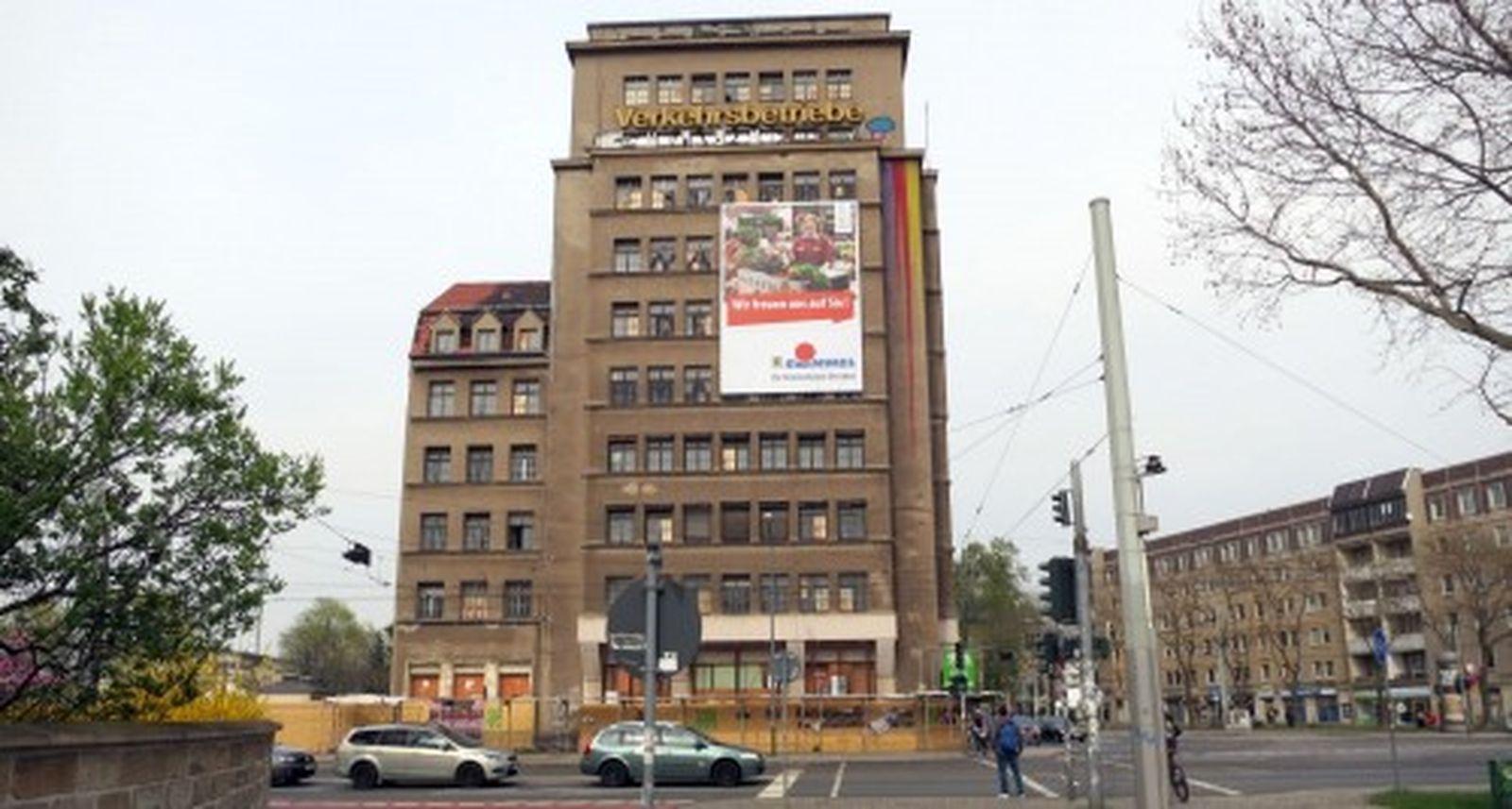 wird saniert, nicht umgekippt - Hochhaus am Albertplatz