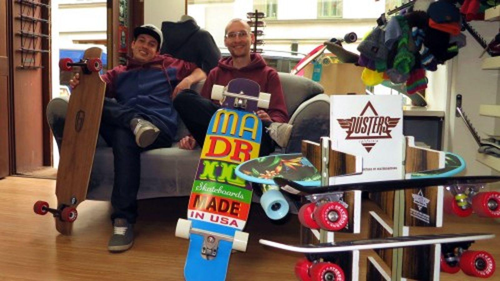 Markus und Franco und jede Menge Boards