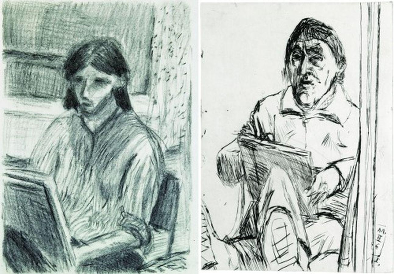 Zeichnungen von Holger (links) und Joachim John