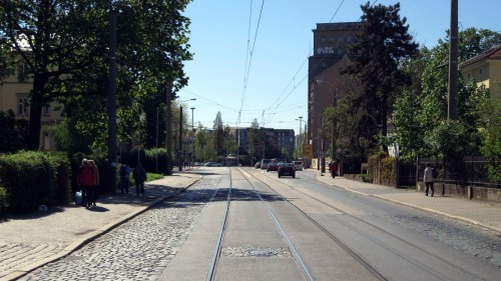 Die Straße wird sieben Meter breiter.